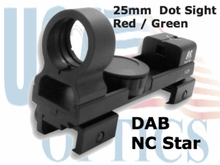 25mm, Dot Sight, Red /Green