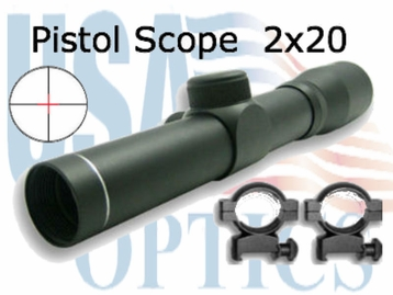 NC Star 2.5x30mm Black Pistol Scope