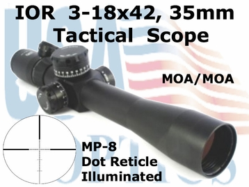 IOR Valdada 3-18x42mm Tactical Scope