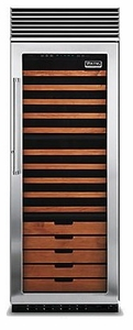"""VCWB301RSS Viking 30"""" Built-in Full Height Wine Cellar with Pro Clear Glass - Right Hinge - Stainless Steel"""