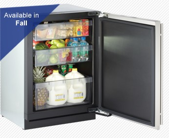 "3024RFOL-00 U-Line 3000 Series / 24"" Solid Door Refrigerator Model Digitally-Controlled Single-Zone Convection Cooling System - Right Hinge - Overlay"