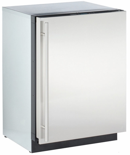 "3024RFS00 U-Line 3000 Series 24"" Solid Door Refrigerator Model Digitally-Controlled Single-Zone Convection Cooling System - Right Hinge - Stainless Steel"