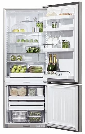 RF135BDRX4 Fisher & Paykel ActiveSmart Fridge - 13.5 cu. ft. Counter Depth Bottom Freezer - Right Hinge - Stainless Steel
