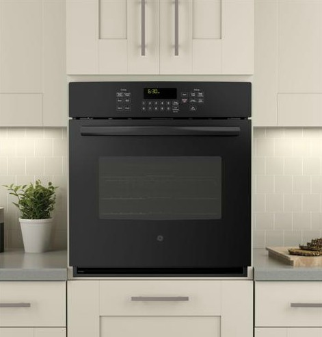 """JK5000DFBB GE 27"""" Built-In Single Convection Wall Oven - Black"""