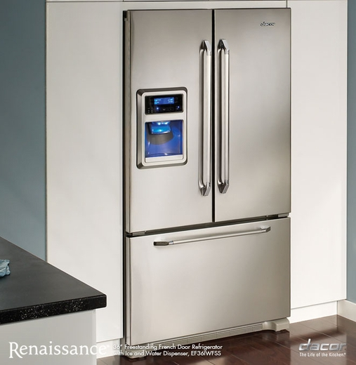 EF36IWFSS Dacor Renaissance 36\  Freestanding French Door Refrigerator with Ice and Water Dispenser - Stainless Steel & Dacor Renaissance 36\