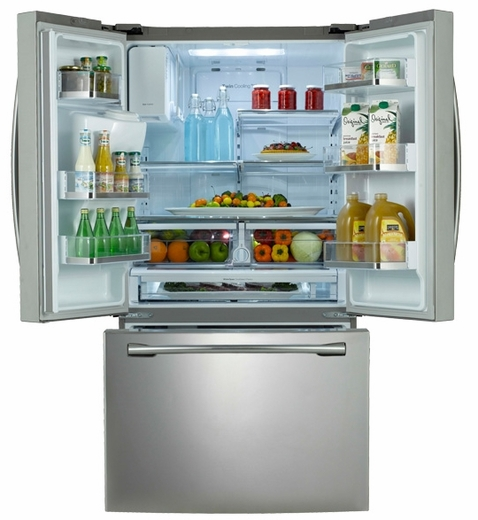 rf323tedbsr samsung 31 6 cu ft french door refrigerator. Black Bedroom Furniture Sets. Home Design Ideas