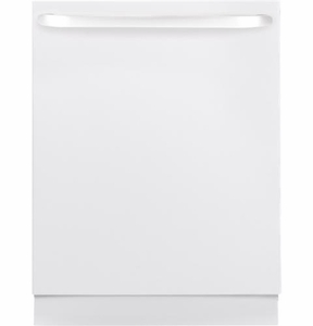 GLDT690DWW GE Built In Dishwasher Hidden Controls - White