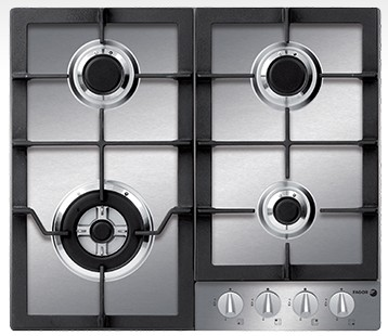 """FA-640STX Fagor 24"""" Gas Cooktop - Stainless Steel"""