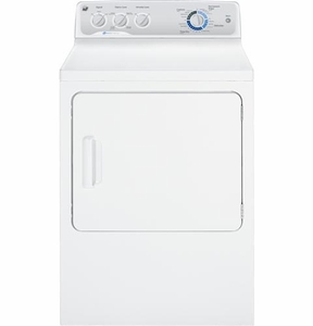 GTDP490EDWS GE 7.0 Cu. Ft. DuraDrum Electric Dryer with HE Sensor Dry - White