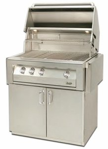 """VBQ36GC Vintage 36"""" Grill Cart - Stainless Steel"""