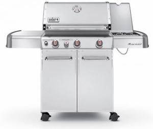 6670001 Weber Genesis S-330 Natural Gas Grill - Stainless Steel