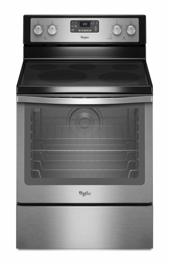 WFE540H0AS Whirlpool 6.2 Cu. Ft. Electric Range with AquaLift Self Clean - Stainless Steel