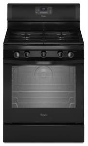 WFG540H0AB Whirlpool 5.8 cu. ft. Capacity Gas Range with AquaLift Self-Clean Technology - Black