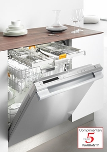 G5975SCSF Miele Futura Diamond Pre-Finished Full Size Dishwasher with Cutlery Tray - Clean Touch Steel