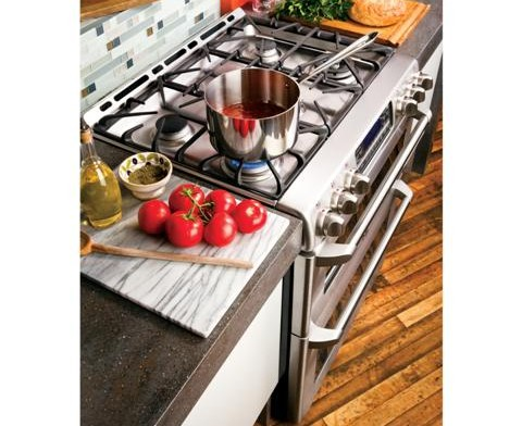 "CGS990SETSS GE Cafe 30"" Free-Standing Gas Double Oven with Convection Range - Stainless Steel"