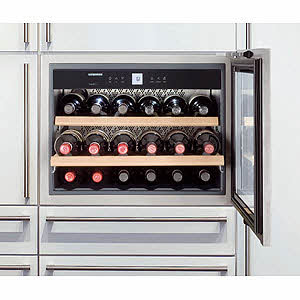 """HWS-1800 Liebherr 24"""" Built-In Fully Integrated Wine Cabinet - Stainless Steel"""