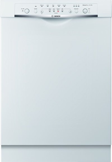 "SHE3AR52UC Bosch Ascenta Series 24"" Recessed Handle Dishwasher - White"