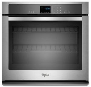 WOS51EC7AS Whirlpool 27 Inch Wide 4.3 cu. ft. Single Wall Oven with SteamClean Option - Stainless Steel