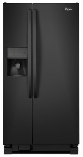WRS322FDAB Whirlpool 22 cu. ft. Side-by-Side Refrigerator with LED Lighting - Black