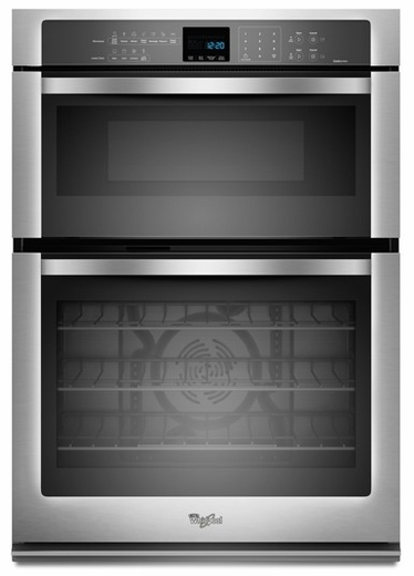 "WOC95EC0AS Whirlpool 30"" Combination Microwave Wall Oven with Convection Cooking - Stainless Steel"