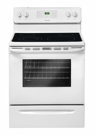"FGEF3032MW Frigidaire Gallery 30"" Freestanding Electric Range with Easy Temp Probe - White"