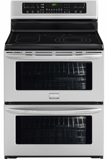 "FGEF308TNF Frigidaire Gallery 30"" Freestanding Electric Double Oven Range - Smudge-Proof Stainless Steel"