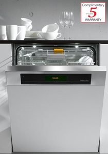 G5915SCi Miele Futura Diamond Full Size Dishwasher with Cutlery Tray and Stainless Steel Control Panel - Custom Panel