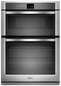 """WOC54EC0AS Whirlpool 30"""" Combination Microwave Wall Oven with SteamClean Option - Stainless Steel"""