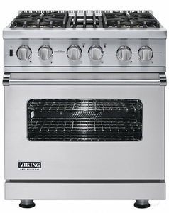 """VDSC5304BSS Viking 30"""" Dual Fuel Self-Clean Sealed Burner Pro Style Range -  Natural Gas - Stainless Steel"""
