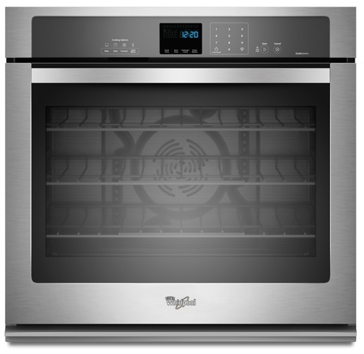 WOS92EC0AS Whirlpool 30 Inch Wide 5.0 cu. ft. Single Wall Oven with SteamClean Option - Stainless Steel