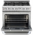 """CGSR362G2L Capital Culinarian Series 36"""" Self-Clean Liquid Propane Range with 4 Open Burners and 12"""" Griddle - Stainless Steel"""