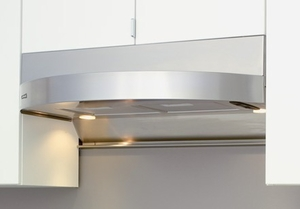 """ZTA-E36AS Zephyr Tamburo 36"""" Under Cabinet Hood with 400CFM Blower - Stainless Steel"""