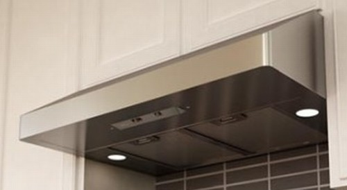 "AK7136AS-BF Zephyr Gust 36"" Under Cabinet Hood Euro Pro with 400CFM Blower - Stainless Steel"