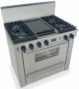 """TTN331-7BW Five Star 36"""" Pro Style All Gas Convection Range with Sealed Burners - Natural Gas - Stainless Steel"""
