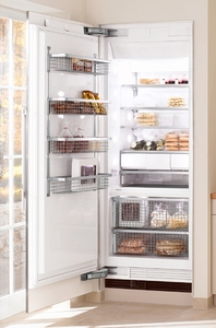 "F1903Vi Miele 36"" All Freezer Fully Integrated Right Hinged - Custom Panel"