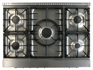 "AMPRO36DFSS AGA Professional Series 36"" Dual Fuel Range - Natural Gas - Stainless Steel"
