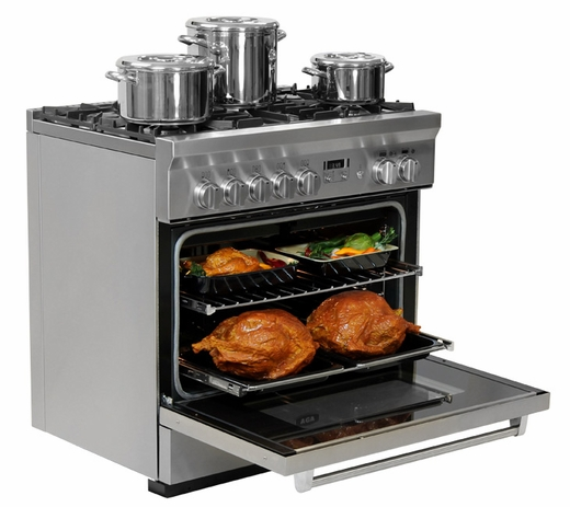 """AMPRO36DFSS AGA Professional Series 36"""" Dual Fuel Range - Natural Gas - Stainless Steel"""
