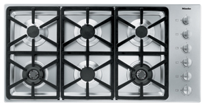 "KM3484G Miele 3000 Series 42"" Natural Gas Cooktop with Hexa Grates - Stainless Steel"