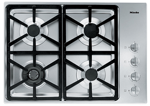 """KM3464G Miele 3000 Series 30"""" Natural Gas Cooktop with Hexa Grates - Stainless Steel"""