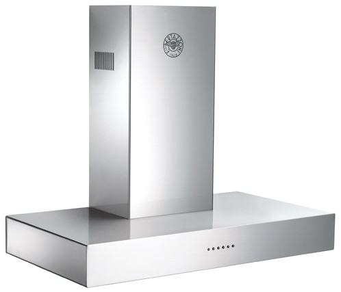 "K36CONX14 Bertazzoni 36"" Modular Ventilation Chimney Style Wall Hood - Stainless Steel"