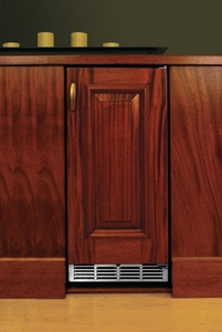 "HP15RS32L Perlick 15"" Signature Series Stainless Refrigerator with Integrated Wood Overlay Solid Door - Left Hinge"