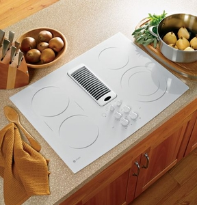 "PP989TNWW GE Profile 30"" Downdraft Electric Cooktop - White"