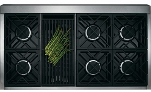 "ZDP486NRPSS Monogram 48"" Dual-Fuel Pro Style Range with 6 Burners and Grill - Natural Gas - Stainless Steel"