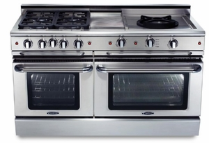 "GSCR604GWL Capital 60"" Precision Pro Style Gas Convection Range 4 Burners, Griddle & Wok - Liquid Propane - Stainless Steel"
