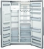 """B22CS80SNS Bosch Energy Star 36"""" Linea 800 Series Counter Depth Side by Side Refrigerator with Dispenser - Stainless Steel"""
