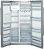 """B22CS50SNS Bosch Energy Star 36"""" Linea 500 Series Counter Depth Side by Side Refrigerator with Dispenser - Stainless Steel"""