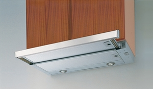 """CRIS24SS Faber Integrated Collection 24"""" Cristal Slideout Hood - Stainless Steel"""
