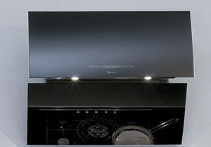 "MIRR36BK Faber Designer Collection 36"" Mirror Wall Hood - Black"