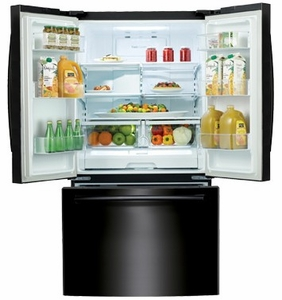 "RF260BEAEBC Samsung 36"" 25.5 cu. ft. French Door Refrigerator with Filtered Ice Maker - Black"