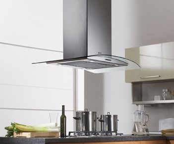 """TRATIS36SS600B Faber Designer Collection 36"""" Tratto Isola Chimney Island Hood - Stainless Steel"""